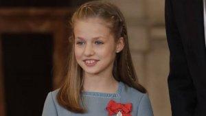 Imagen de Leonor durante la entrega del Toisón de Oro.