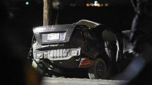 Imagen del estado del coche tras el accidente en México