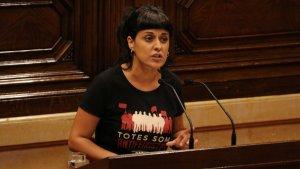 Imatge d'arxiu de l'exdiputada de la CUP, Anna Gabriel