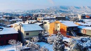 Imatge de la nevada que ha tingut lloc aquest matí a Torrelló