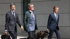 Jordi Pujol Ferrusola a la seva arribada a l'Audiència Nacional