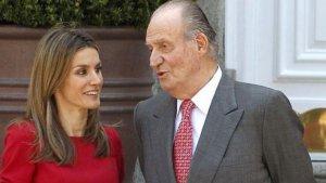 Juan Carlos alaba la figura de Letizia