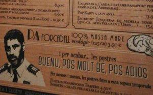 La carta del restaurant Neptú de Girona