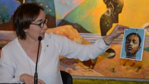 La consellera de Cultura, Begoña Floria, durant l'acte de presentació de la temporada