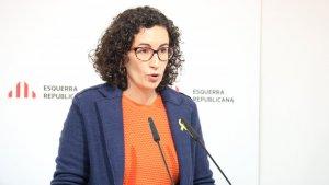 La secretària general d'ERC, Marta Rovira, durant un Consell Nacional del partit