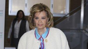María Teresa Campos a su salida del Hospital La Luz
