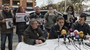 Roda de premsa de la presentació de la campanya 'Ni al cap ni enlloc'