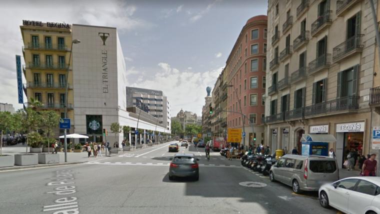 El carrer Pelai de Barcelona, on han tingut lloc els fets