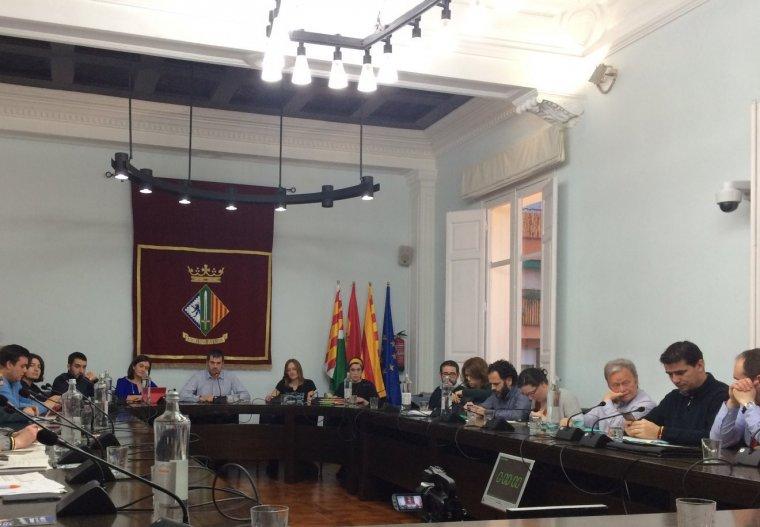 El regidors durant el Ple Municipal del mes de febrer
