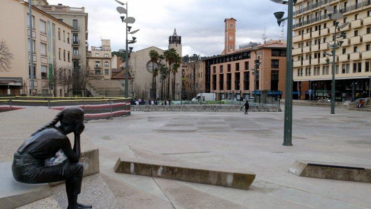 Imatge d'arxiu de la plaça Constitució de Girona