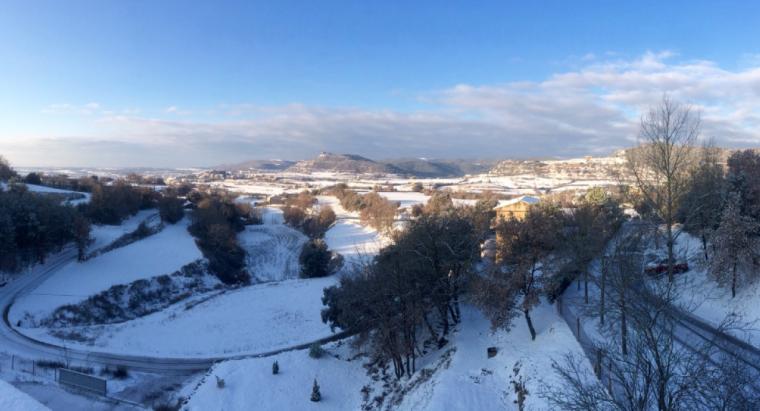 Imatge del Solsonès nevat