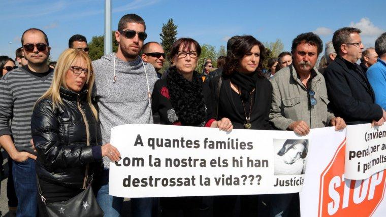 Imagen de los familiares de Marta Soria