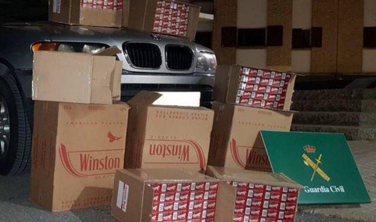 Imatge dels paquets intervinguts per la Guàrdia Civil