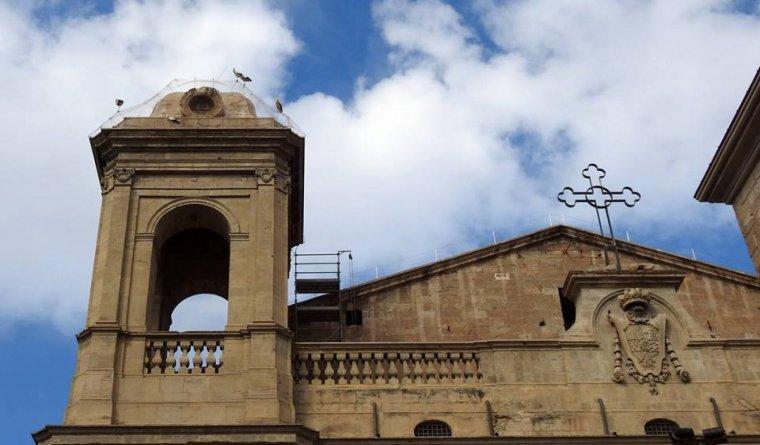 La Catedral de Lleida amb les cigonyes