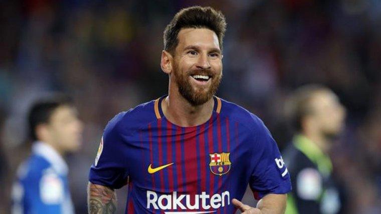 Leo Messi, després de marcar un gol a l'Espanyol