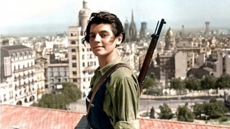 Marina Ginestà, combatiente comunista de la Guerra Civil Española.