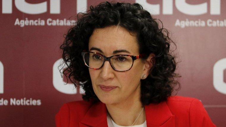 Marta Rovira, durant l'entrevista amb l'ACN
