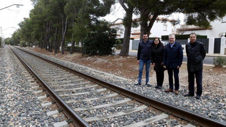 Morancho, Mendoza, Granados i Garcia exigeixen el desmantellament de la via del tren.