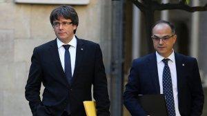Carles Puigdemont i Jordi Turull, en una imatge d'arxiu