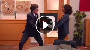 Carles Puigdemont i Marta Rovira barallant-se per TV3 al Polònia