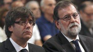 El president català Carles Puigdemont i el president espanyol Mariano Rajoy