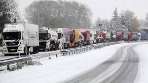 Els camions, en una imatge d'arxiu