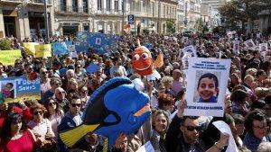 Imatge de la concentració a Almeria per la desaparició de Gabriel Cruz.