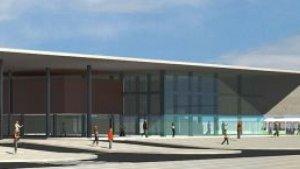 Imatge virtual de la futura estació ferroviària que s'ha projectat de construir a Salou quan entri en funcionament el Corredor del Mediterrani.
