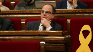 Jordi Turull i Josep Rull, en un ple del Parlament