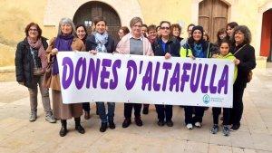 La plaça del Pou d'Altafulla ha centrat la reivindicació al municipi