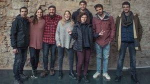 L'equip de Bruna, Pol Sureda, Ariadna Fabregat, David Trisany, Cristina Massagué, Albert Blay, Claudia Calcara, Alberto Sánchez i Javier Pérez