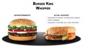 McDonalds ha sido acusada muchas veces por publicidad engañosa.