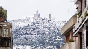 Neu al Tibidabo de Barcelona