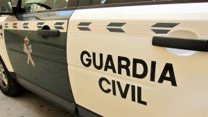Un cotxe de la Guàrdia Civil