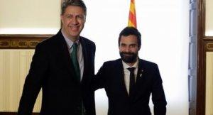 Xavier García Albiol i Roger Torrent, durant la reunió d'avui