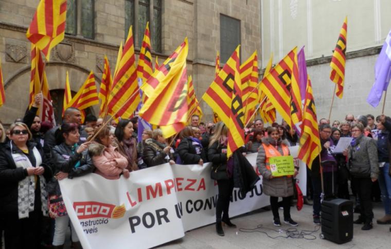 Imatge de la concentració a la plaça Paeria
