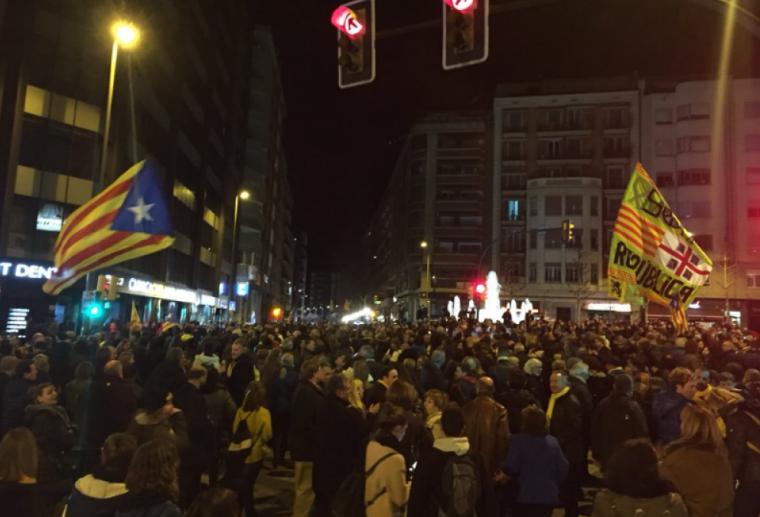 Imatge de la concentració a Lleida