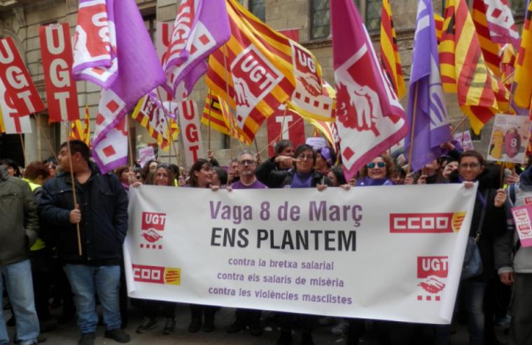 Imatge de la concentració aquest migdia a Lleida