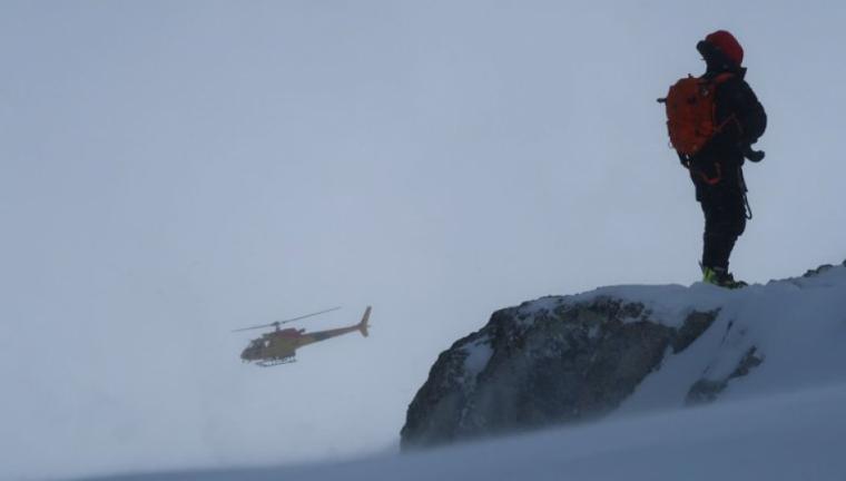 Imatge de l'helicòpter que els va traslladar