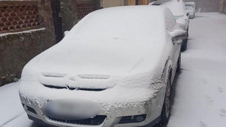 La neu ha agafat de valent a Prades.