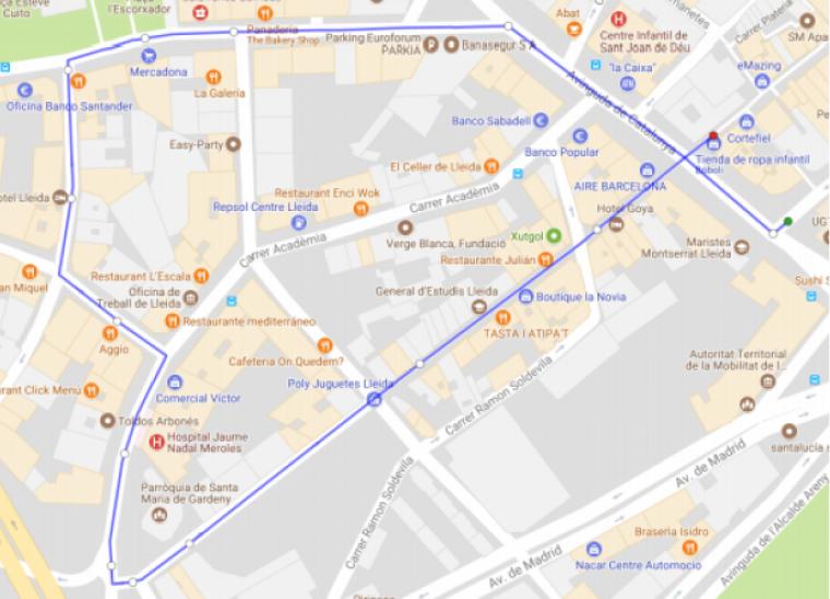 Mapa de la processó
