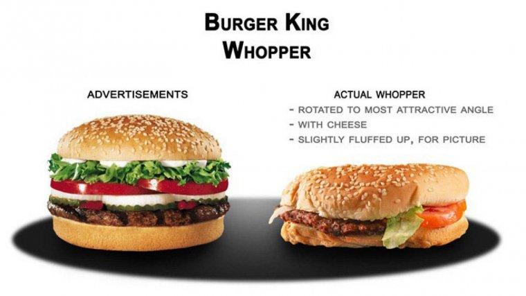 McDonalds y Burger King han sido acusadas muchas veces de publicidad engañosa.