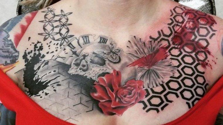 Tatuaje estilo Trash Polka.