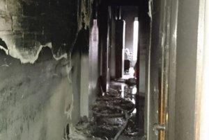 Així ha quedat la zona afectada per l'incendi
