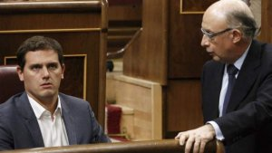Albert Rivera i Cristóbal Montoro, al Congrés dels Diputats
