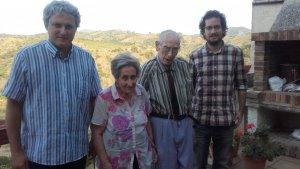D'esquerra a dreta Jordi Manent, Maria Teresa Sabaté, Jaume Sabaté i Francesc Marco