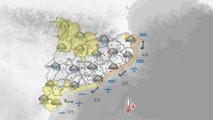 Dimecres a la tarda, encara quedaran algunes precipitacions, i es mantindran els avisos al sud i a la cara nord del Pirineu