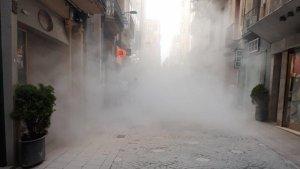 Edifici afectat al carrer Monterols