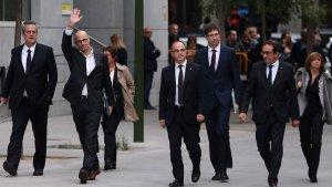Els polítics catalans, abans d'entrar a l'audiència