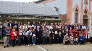 Foto grupal de la tradicional trobada d'autors locals a Reus
